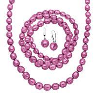 Honora Fuchsia Ringed Pearl Earring, Bracelets & Necklace ...