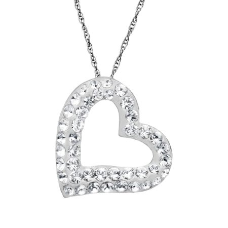 Crystaluxe Open Heart Pendant with White Swarovski