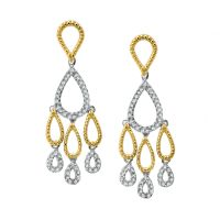 Yellow Gold Diamond Chandelier Earrings - Chandelier Ideas