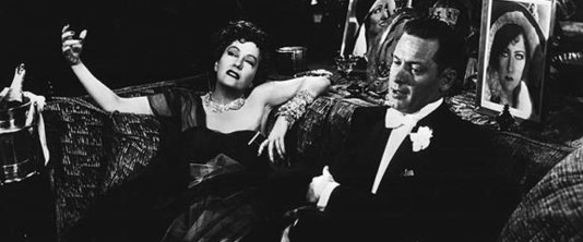 A scene from the movie Sunset Boulevard