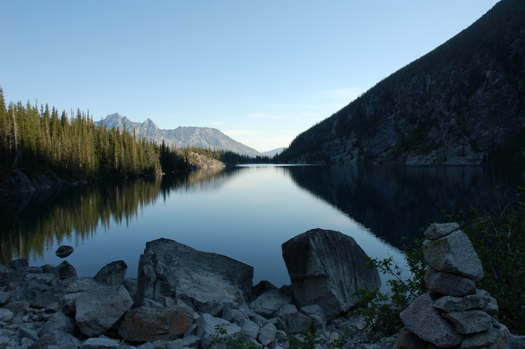 The route to Colchuck Lake makes for a wonderful day hike.