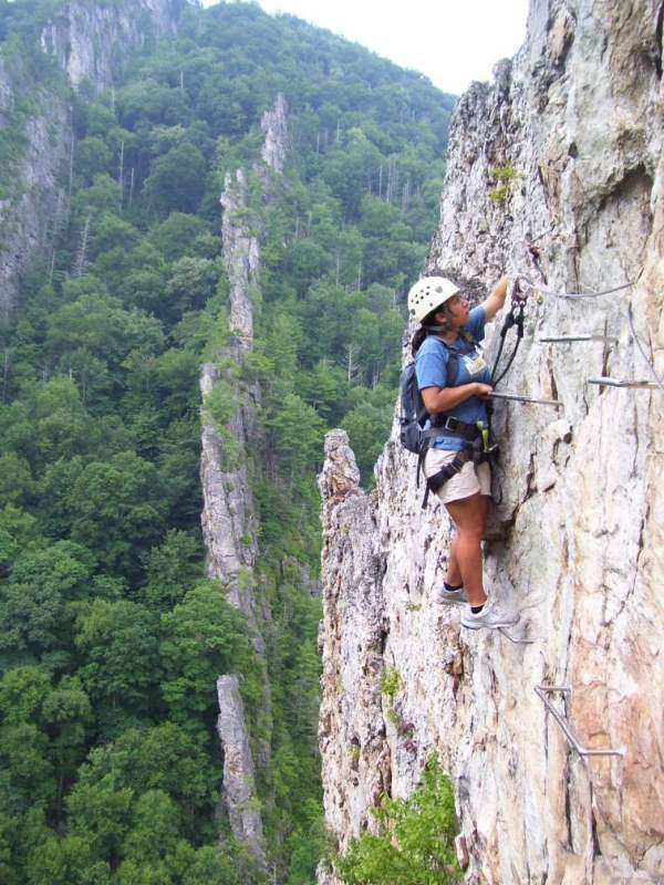 Climbing Seneca Rocks West Virginia