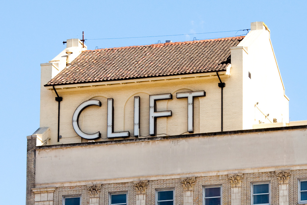 The Clift Hotel is close to Union Square and has an artsy vibe.