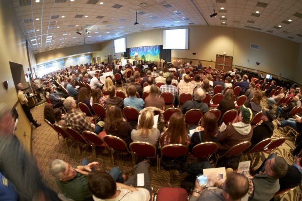 Crowd of Organic Valley farmers at their annual meeting 2016.