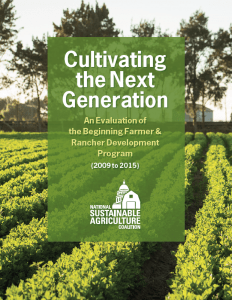 Cover of the Cultivating the Next Generation report.