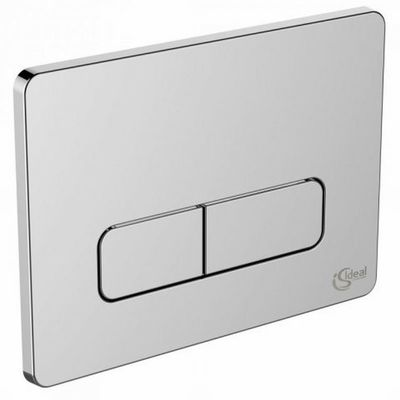 ideal standard ideal standard bouton de commande wc 23x17cm softedge matiere synthetique chrome mat