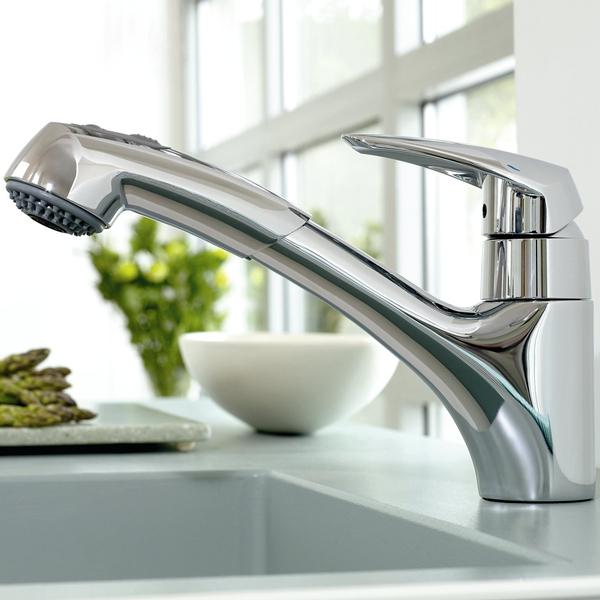 grohe eurodisc robinet de cuisine avec douchette extractible chrome