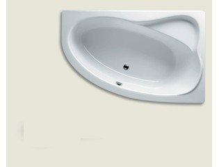 riho lyra baignoire d angle 140x90cm blanc brillant 310517