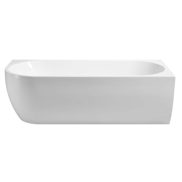wiesbaden corner baignoire mi ilot d angle180x80cm acrylique avec bonde blanc