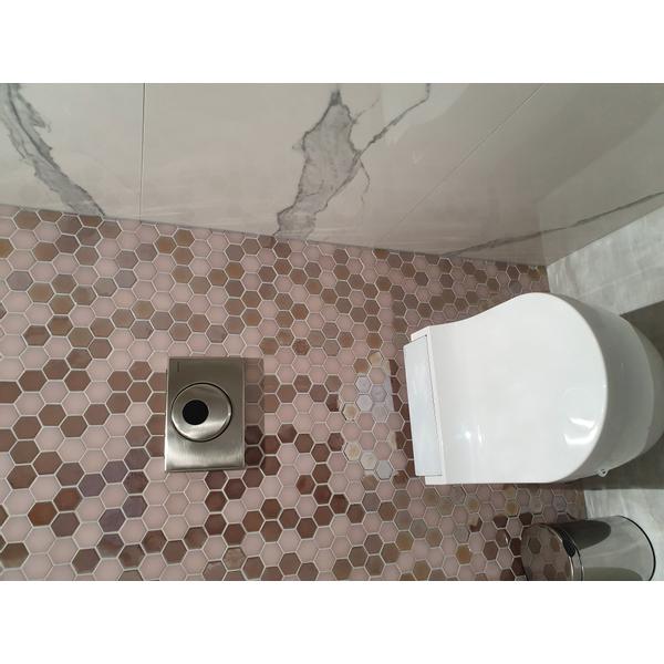 the mosaic factory valencia carrelage mosaique hexagonal 27 8x32 5cm pour mur et sol et pour l interieur et l exterieur resistant au gel rose mat et