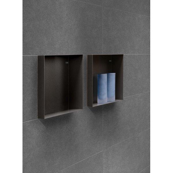 looox cbox niche de salle de bains 60x30x10cm noir mat