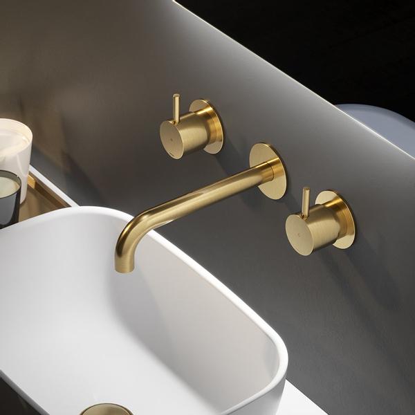 hotbath cobber mitigeur lavabo encastrable laiton brosse