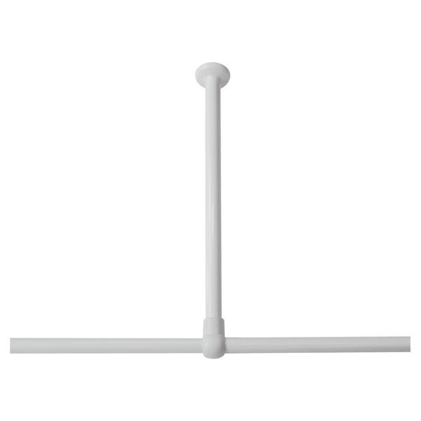 sealskin seallux support plafond pour barre de douche d angle 60cm blanc