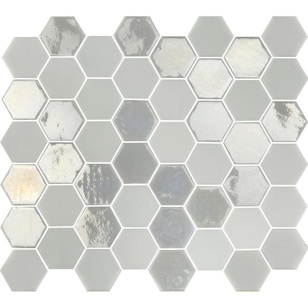 the mosaic factory valencia carrelage hexagonal 27 8x32 5cm mural et sol interieur et exterieur resistant au gel blanc brillant et mat