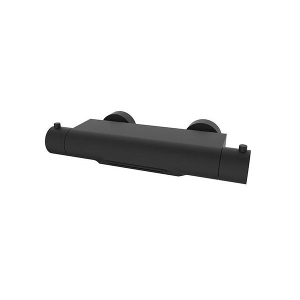 wiesbaden style robinet de baignoire thermostatique cascade noir mat