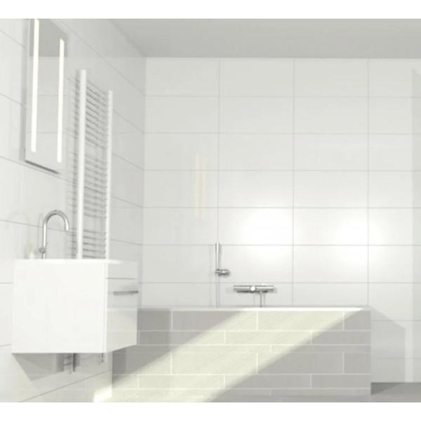 keratile basic carrelage mural blanc mat 30x60cm