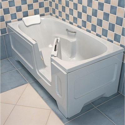 nemo spring lanzarote baignoire avec porte droite 172x80x62cm avec vidage et trop plein acrylique blanc