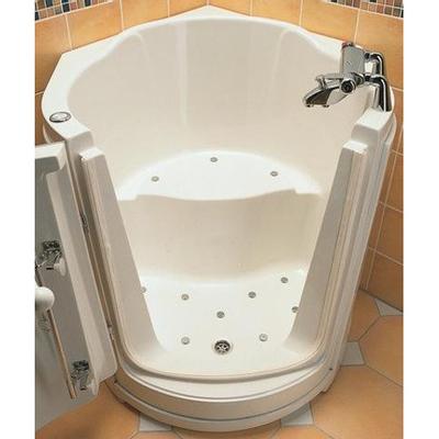 nemo spring ibiza baignoire assise d angle porte gauche 120x99cm acrylique avec vidage et trop plein blanc