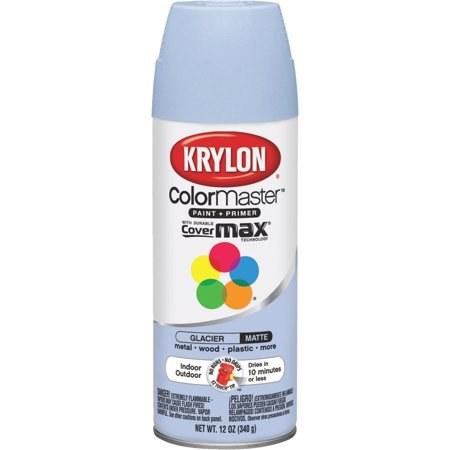 krylon colormaster glacier matte acrylic enamel spray paint 12 oz aerosol can 53575