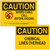 Buried & Overhead Pipe / Gas Line & Cable Signs