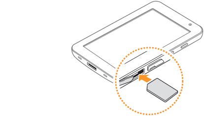 Samsung Galaxy Tab : Mise en service