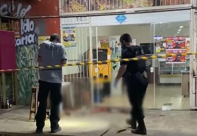 Assassino estava visivelmente alterado no momento do crime | Reprodução/SBT