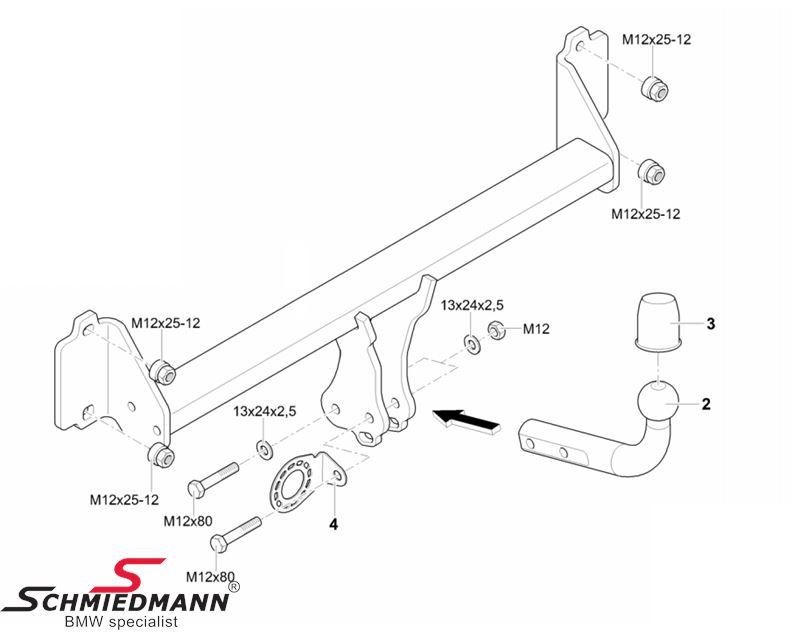 Towing hitch non detachable original Westfalia 303339