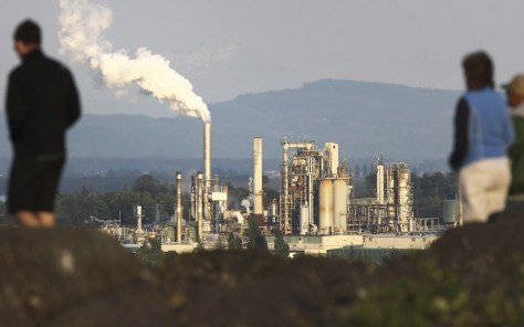 A view of the Tesoro refinery, as seen from Cap Sante lookout in Anacortes. Photographed on July 16, 2012. (John Lok / The Seattle Times)
