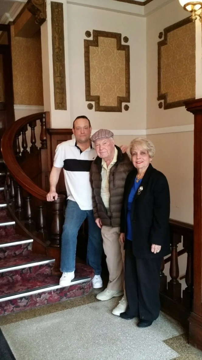 Al And Narci Hendricks With Their Son Manny In The Lobby Of
