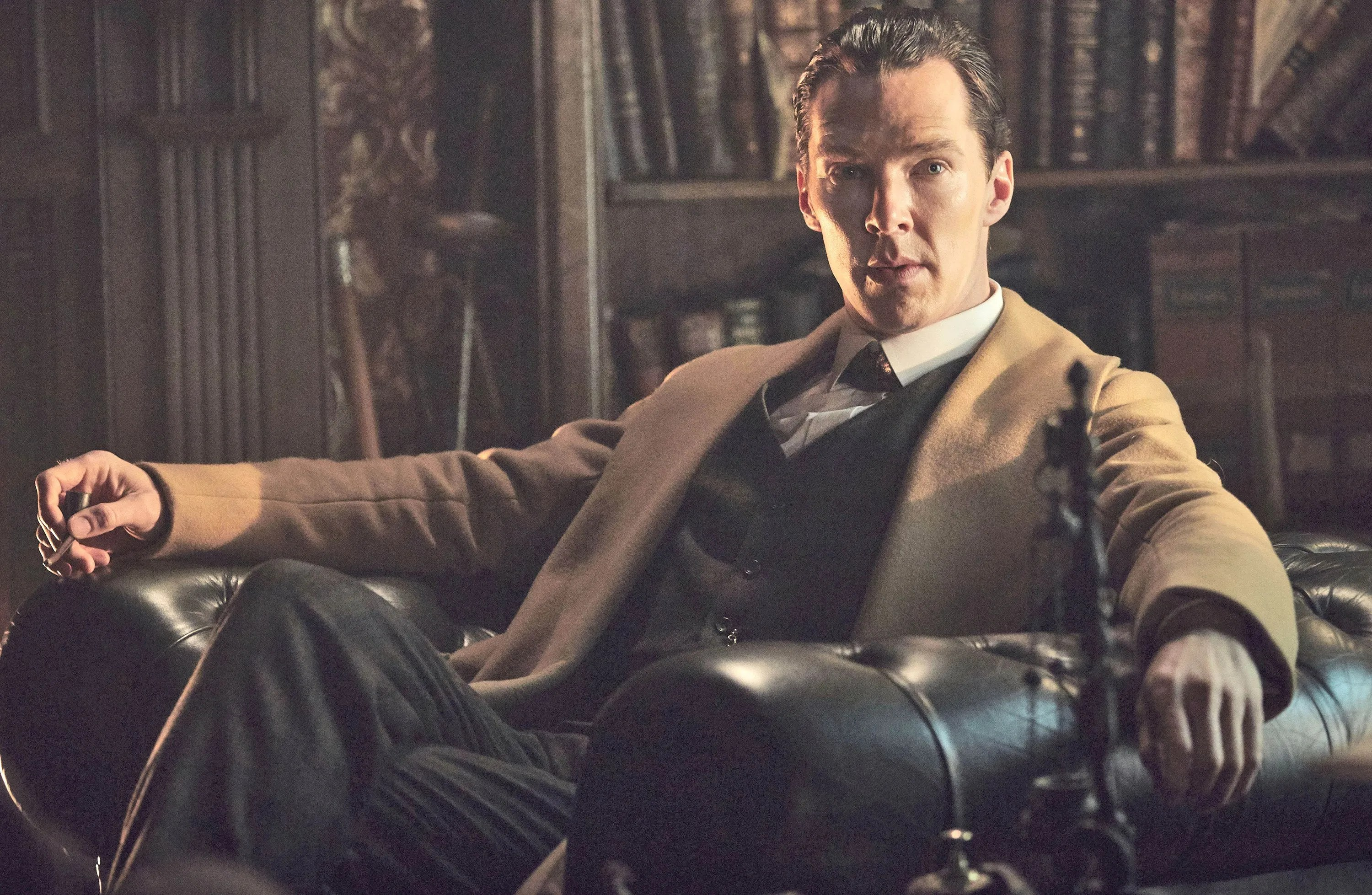 "Benedict Cumberbatch plays Sherlock Holmes in the ""Masterpiece"" series, ""Sherlock,"" which took a trippy trip back to the Victorian era on PBS on Jan. (Robert Viglasky/TNS)"