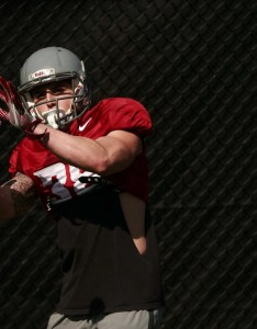 Wide receiver kaleb fossum practices at washington state university in pullman wash also how unheralded wsu cougars walk on played his way into rh seattletimes