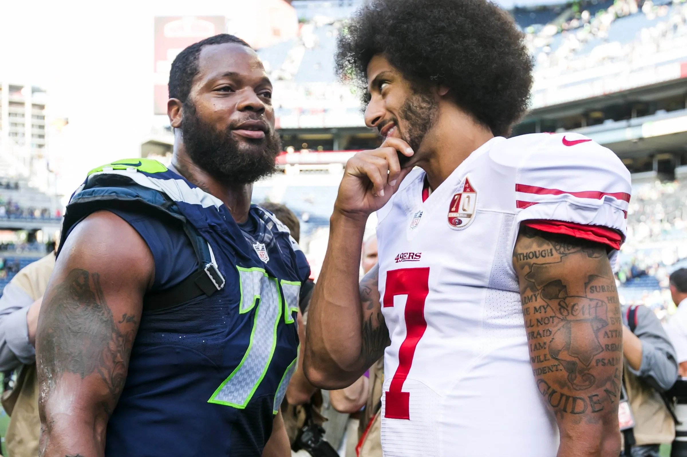 Image result for michael bennett and kaepernick