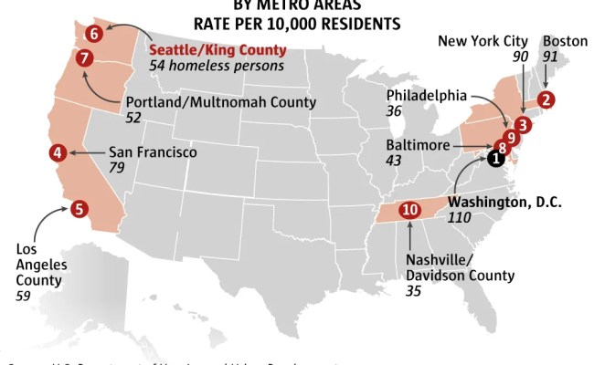 Is Seattle S Homeless Crisis The Worst In The Country The Seattle Times