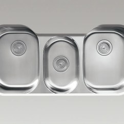 Big Kitchen Sinks Table Decorating Ideas Wanted A Sink For The Seattle Times Triple Bowl Stainless Steel Features Two Larger Bowls On Each Side With