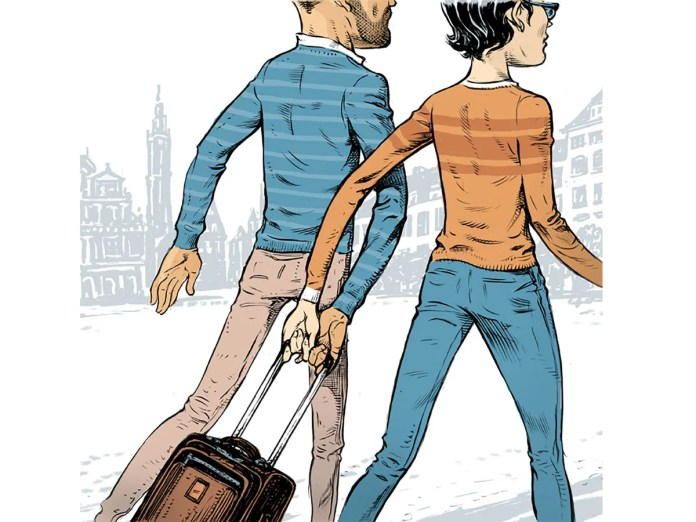 Traveling couples can share devices and even luggage to cut 