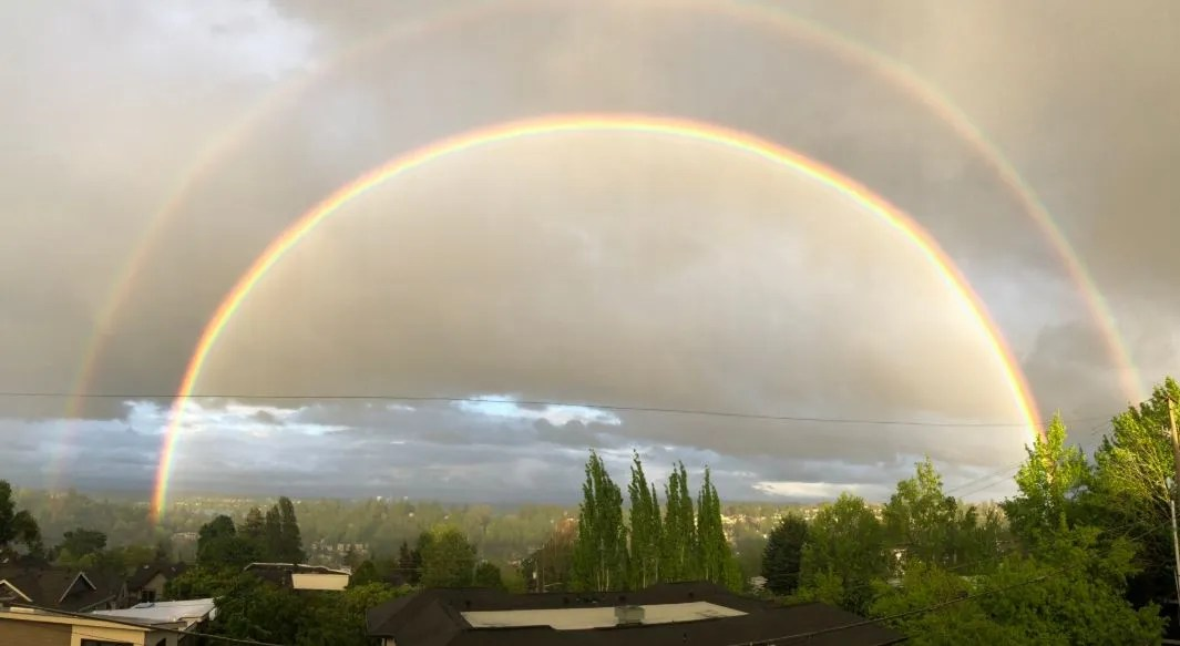 that double rainbow that