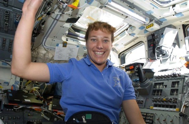 Dottie Metcalf-Lindenburger, of Lake Forest Park, flew on the space shuttle Discovery in April 2010. (NASA)