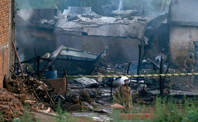 Pakistani Army Plane Crashes Into Homes Killing 19 The