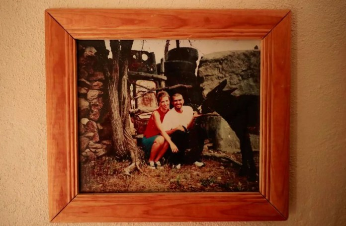 In their Zacatecas house, a framed photo of Joy and Rafael records one of their early trips to his grandfather's farm outside the city. (Erika Schultz / The Seattle Times)