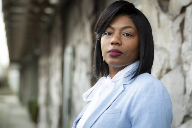Zenovia Harris, CEO of the Kent Chamber of Commerce, experienced a racist Zoom bombing in July that rattled her, but it sparked conversations about diversity and equity at the chamber. (Bettina Hansen / The Seattle Times)