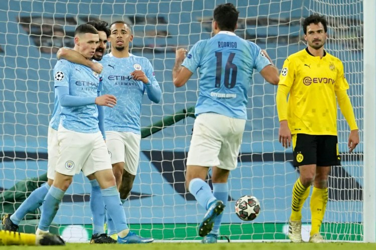 Foden gives Man City 2-1 Champions League win over ...
