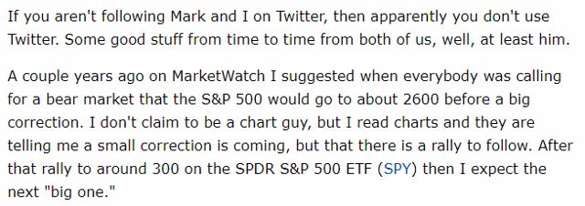 S&P 500 2600 Call