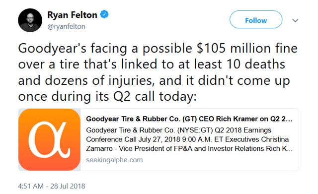 Felton's tweet