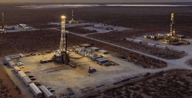 Exxon Mobil drilling site