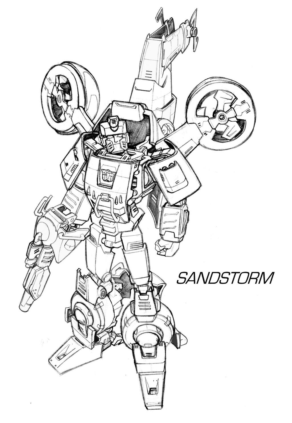 Hasbro Generations IDW Sandstorm Nick Roche Concept Art