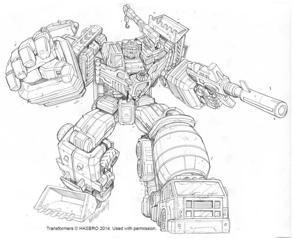 Transformers Generations Devastator Box Art by Marcelo Matere
