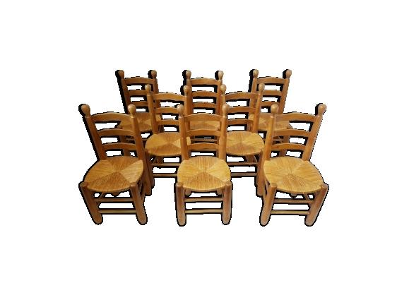 Chaises Paille Chaise Rustique Bois Et Paille Chaise