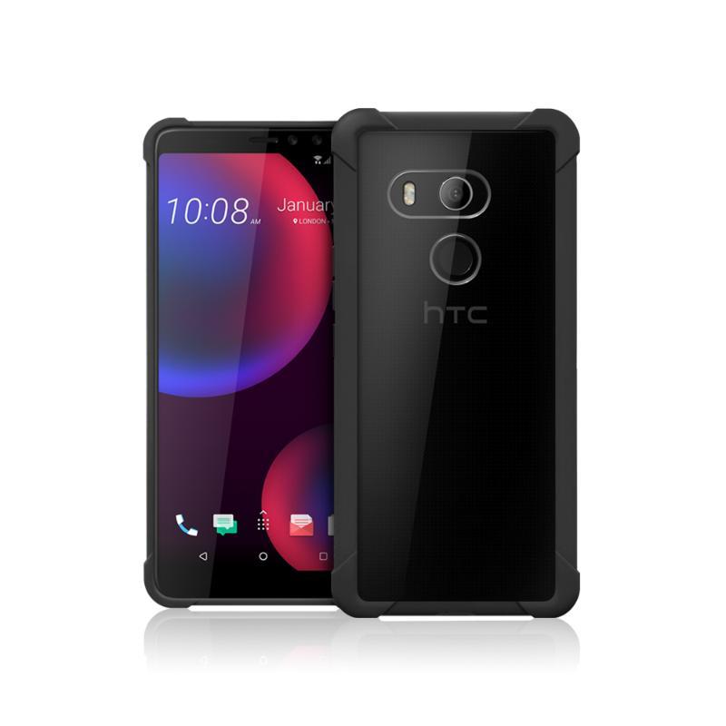 HTC U11 EYEs 透視雙料防震邊框殼-黑 - 穿戴.相機.配件 - 神腦國際