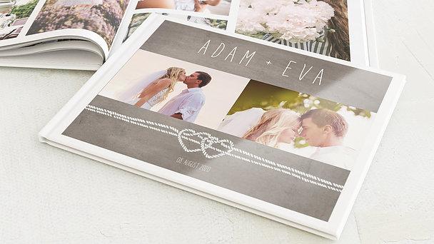 Fotobuch Hochzeit Liebesknoten Detail