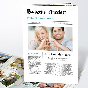 Hochzeitszeitung Zeitung Detail